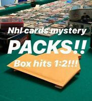 MYSTERY NHL HOCKEY CARDS PACKS! 2+ HITs PER PACK - JERSEYS - AUTOS -1400+ SOLD!!