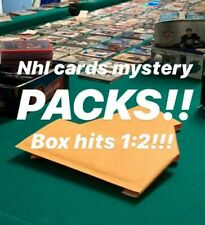 MYSTERY NHL HOCKEY CARDS PACKS! 2+ HITs PER PACK - JERSEYS - AUTOS - 400+ SOLD!!