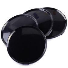 4pcs 63mm Black Car Vehicle Wheel Center Hubs No Badge Caps Covers Emblem