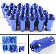 M12X1.25 JDM SPEC ANODIZED BLUE WHEEL RIM LUG NUTS FOR INFINITI G20 G25 G35 G37