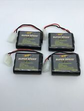 Lot Of 4-Hot Wheels RC Super Speed 9.9V 1100mAh Lithium Ion Rechargeable Battery