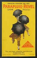 Publicité PARAPLUIE REVEL LYON par Cappiello umbrella