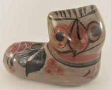 Vintage Tonala Mexican Pottery Folk Art Cat Figure Handmade Hand Painted