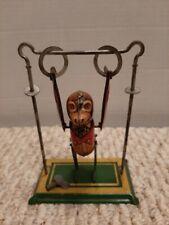 1930's Marx Tin Wind-Up Trapeze Acrobat Monkey Working With Key Shelf C1