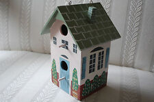Wooden Cottage Two Hole Bird House New