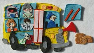 FELT BOARD STORY RHYME TEACHER RESOURCE -  THE WHEELS ON THE BUS