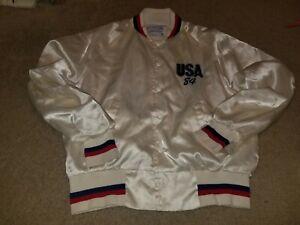 Vintage Upstream 1984 Olympic Los Angeles USA White Jacket