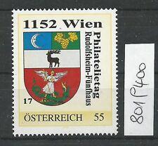 Österreich PM personalisierte Marke Philatelietag 1152 WIEN 8019400 **