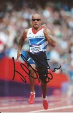ATHLETICS * JAMES ELLINGTON SIGNED 6x4 ACTION PHOTO+COA *TEAM GB*