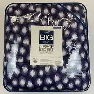 The Big One 5-Piece Reversible Comforter Set With Sheets - Twin XL - Purple Dots