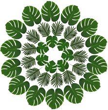 36 PEZZI 2 tipi artificiale foglie di palma Finta Palma Foglia di Monstera Finta per