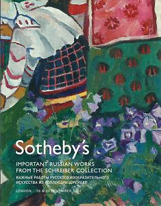 SOTHEBY'S RUSSIAN ART Goncharova Larionov Schreiber Collection Catalog 2007
