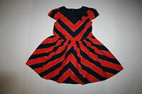 New Gymboree Chevron Bow Dress 5 Year NWT Prep Perfect Gold Red Navy Girls