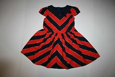 New Gymboree Chevron Bow Dress 6 Girls NWT Prep Perfect Gold Red Navy Stripes