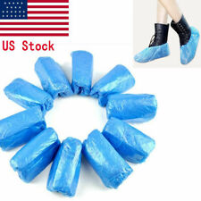 100/300 Disposable Shoe Covers Anti Slip Plastic Cleaning Overshoes Waterproof