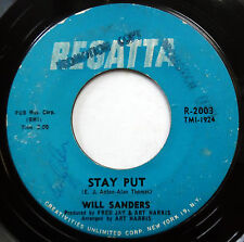 WILL SANDERS 45 Stay Put / The Living Truth R&B Northern Soul POPCORN e6228