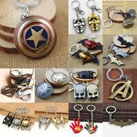Charming The Avengers Marvel Captain America Shield Metal Keyring Keychain Hot