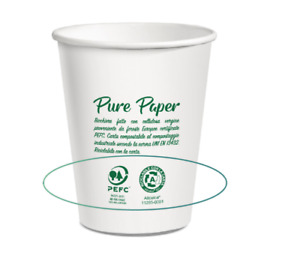 Pure Paper Recyclable and Compostable Cups liner-free & ethically sourced