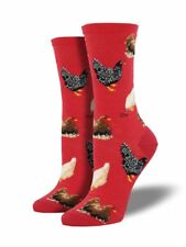 NEW Women's Crew Socks 🐔🐓 Chickens 🐔🐓 Hen House farm Animal No Rooster