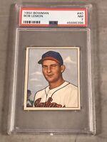1950 BOWMAN #40 BOB LEMON PSA NM 7 HOF