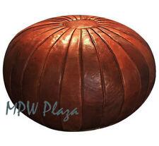 MPW Plaza Pouf, Deco, Brown, Moroccan Leather Ottoman (Stuffed)