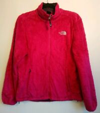 Ladies The North Face Bright Pink Teddy Fur Borg Jacket Size Medium M UK 10 12