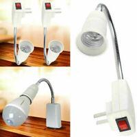 E27 Holder Flexible Light Bulb Lamp Extension Adapter Converter Socket Swit I0L2