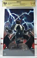 🌟 2X-SIGNED! VENOM #1 1:100 VIRGIN VARIANT DONNY CATES + RYAN STEGMAN CBCS CGC
