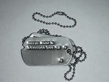 Custom Dog Tag Set Authentic Reproduction WWII GI Notched Stainless Set & Chain