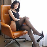 Damen Sexy Strümpfe Oberschenkel Kniehohe Strümpfe Frauen Spitze Geöffnete Neu