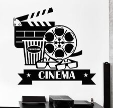Vinyl Wall Decal Cinema Movie House Popcorn Cinematography Stickers (1108ig)