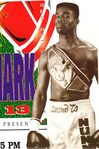 Rare 1995 Michael Nunn at The Mark Boxing Poster; Moline, Illinois; Near-Mint!