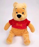 "Disney Winnie the POOH Bear Plush Stuffed Animal sitting Soft Toy 16"""
