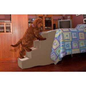 Pet Gear Easy Step IV 4 Step Dog Cat Furniture Bed Ramp Stairs Chocolate or Tan