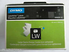 Genuine DYMO S0929110 Large Name Badge Cards 106 x 62mm