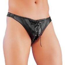 mens sex y faux leather posing  brief novelty underwear jock toys stripper SEXYY