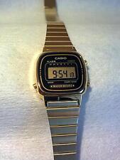 Casio La670wga-1df Orologio Donna dorato acciaio Nero Digitale SOTTOCOSTO