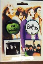 WITH THE BEATLES FOR SALE APPLE DRUM BAND 4 BUTTON SET NEW