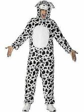 Smiffy's Adult Unisex Dalmatian Costume, Jumpsuit with Hood, Party Animals, Seri