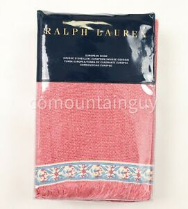 Ralph Lauren Belle Point Ellendale Euro Sham Dusty Red 26 x 26
