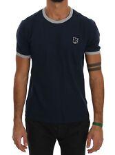 KENZO T-shirt Beachwear Blue Cotton Crewneck Short Sleeve Mens Top S. M