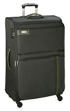 Koffer XL Groß Grau 77 x47x33cm Nylon Stoff Reise Trolley 3,2 kg Leicht Bowatex