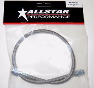 """Braided Stainless Steel Brake Line Hose 18"""" 3 An Straight End 18 inch Length"""