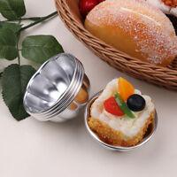 5Pcs Aluminum Alloy Egg Tart Molds Dessert Cake Muffin Baking Cups Tartlets Pans