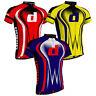 Men Cycling Jerseys Short sleeve Breathable Reflective MTB Sports Bicycle shirts