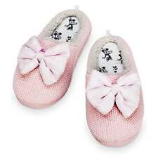 Disney Store Minnie Mouse Bow Knitted Slippers For Women Size 7-8 Pink NWT