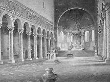 ITALY Ravenna Basilica Sant'Apollinare in Classe - 1860s Antique Engraving Print