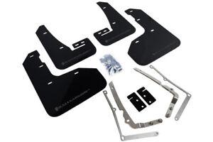 Rally Armor Mud Flaps Guards for 15+ VW Golf/GTI MK7 MKVII (Black w/Grey Logo)