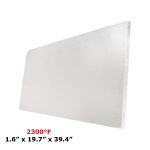 "1.6"" Refractory Ceramic Fiber Insulation Board 2300F 19.7"" X 39.4"""