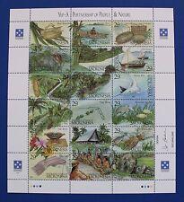 Micronesia (#186) 1993 Yap Culture MNH sheet